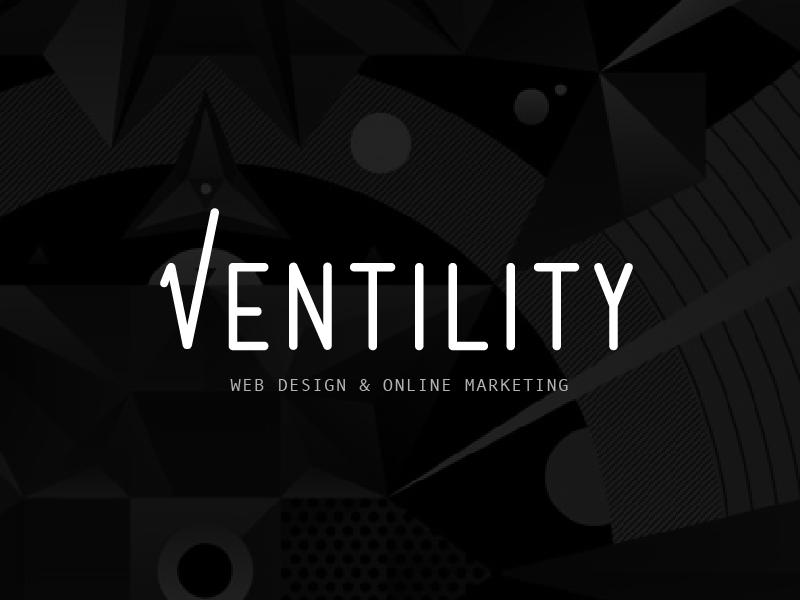 Ventility Logo sales marketing check mark typography type logo
