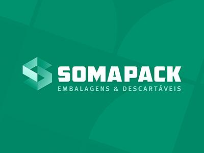 SomaPack Final Logo brazilian isometric geometric green brand logo