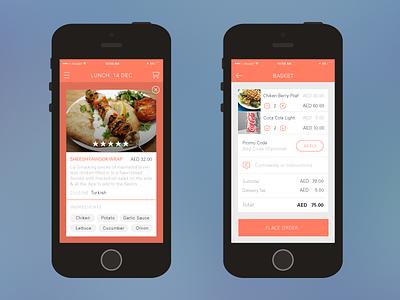 Food App Sketch delivery food ui mockup sketch ios app