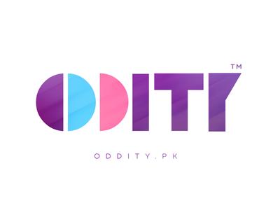 ODDITY type shapes geometric minimal logo brand