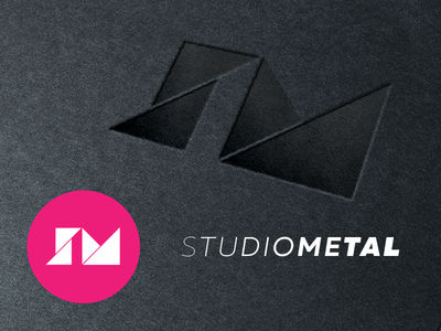 Studio Metal tangram triangle shape geometric icon logo