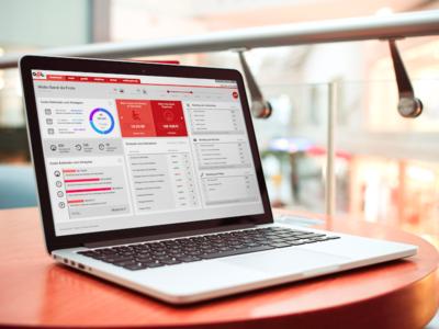 Rastrear Dashboard telematics panel web mockup charts dashboard flat