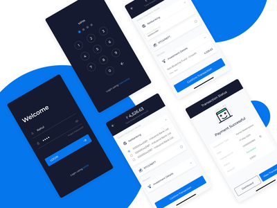 Investment App welcome appscreen dribbble dark theme wealth app uiux payment login investment