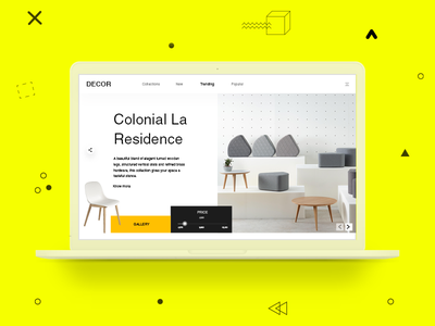 Furniture Web Page Design - Minimalism decor minimal chair ui web design web page furniture