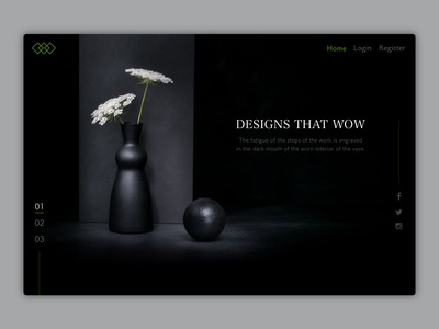 Landing page - First fold