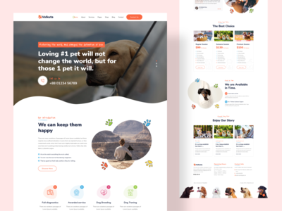 Landing Page Design For Pet Theme