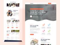 Landing Page Design For Pet Theme V2