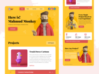 Monkey - Personal Portfolio Landing Page ( Full View )
