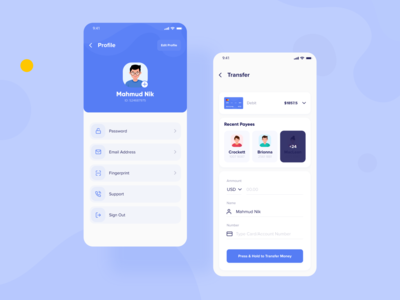 Digital Wallet App - Profile & Transfer