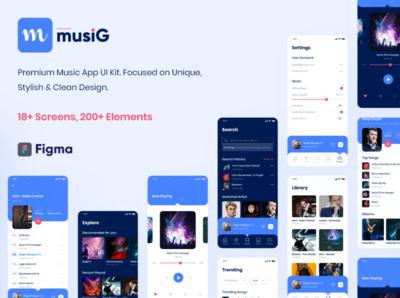 Musig - Music App UI Kit