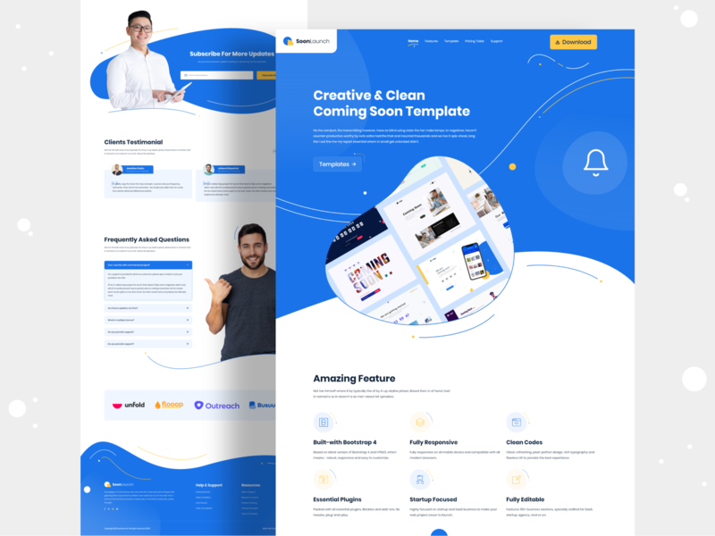 Coming Soon Template Landing Page Design