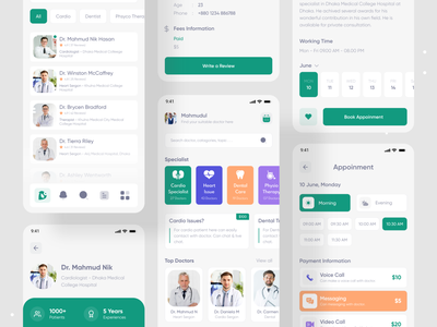 DoctorPoint _ Doctor Consultant Mobile App mobile app design mobile app mobile doctor appointment doctor app appointment modern design clean ui design ui uidesign consultation consultants medical care medical app medical health care health app consultant healthcare