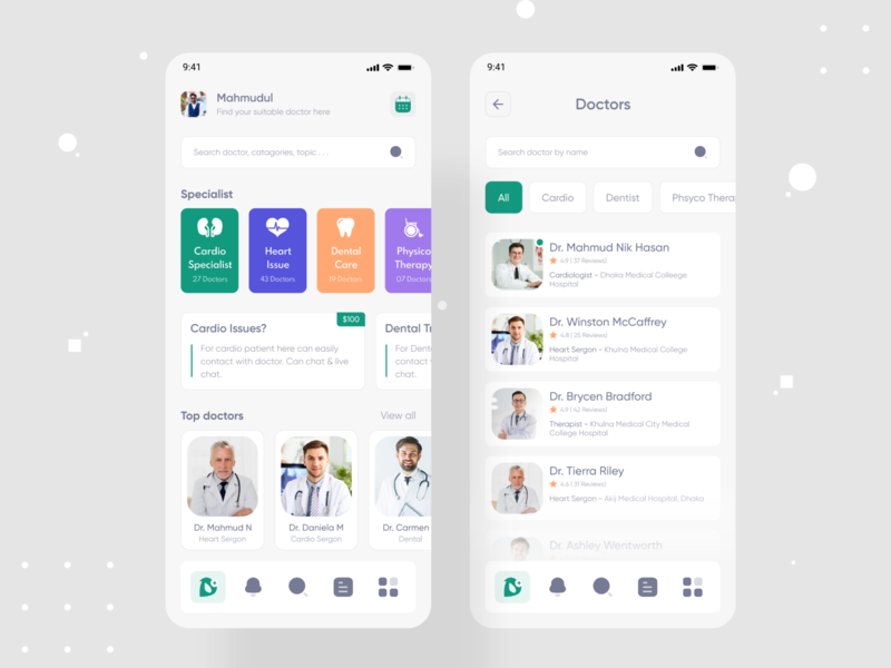 DoctorPoint - Doctor Consultant Mobile App health app healthcare ui design ui uidesign mobile apps mobile app design mobile design mobile ui mhmanik02 devignedge medical design consultant mobile app doctor appointment doctor doctor app medical care medical app medical
