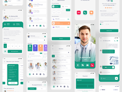 DoctorPoint - Doctor Consultant Mobile App mobile app design mobile ui mobile app app ui design mhmanik02 devignedge uidesign ui medical medical app health care health app healthcare clean best shot best dribbble shot doctor appointment doctor app doctor