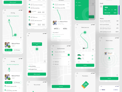 Ride Sharing Mobile App - Passenger App ui design uidesign ui trend 2020 best dribbble shot best shot mobile app development mobile app design mobile ui ride sharing app agency app ui app design app ride sharing devignedge mobile app ridesharing ride ride app