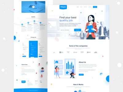 Website Landing Page | Job Listing Marketplace Company job listing devignedge searching job marketplace website design web design webdesign landing page design agency website creative ui design uidesign ui landing page landingpage
