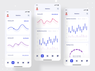 Debank | Bank Dashboard Design | Mobile App 2020 trend dribbble best shot admin dashboard admin panel app design mobile app design mobile design mobile ui dashboard app devignedge dashboard ui dashboard creative agency mobile mobile app app uidesign ui ui design