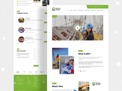 Construction Industry Website Landing Page clean modern modern design web design websites webdesign website design construction company industrial construction industry agency devignedge landingpage website landing page creative ui uidesign ui design
