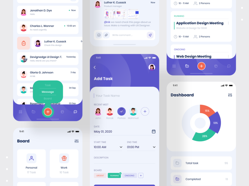 Taskito - Task Management App mobile design best dribbble shot ios app management app to do app task manager task management app ui design mobile ui devignedge app design agency mobile mobile app design mobile app app creative ui uidesign ui design