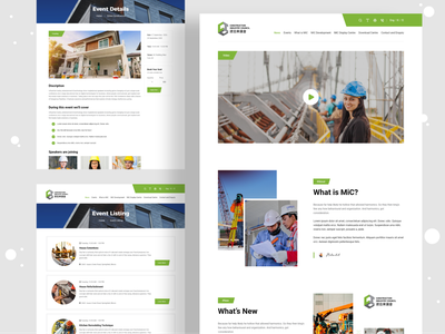 Construction Industry Website | UI Design listing event industrial design industrial industry devignedge landingpage landing page uidesign ui design ui web agency website website design web design webdesign website agency construction company construction