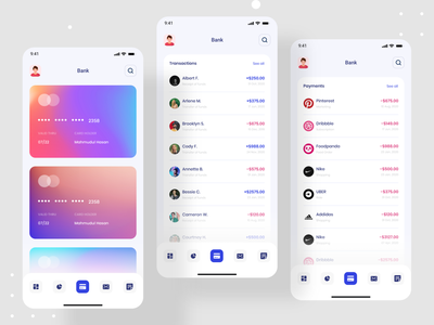 Debank | Bank Dashboard Design | Mobile App finance banking app banking bank app mobile app design ios app ui design uidesign ui mobile app app devignedge web app webapp design data visualization analytics dashboard analytics chart analytics analytic dashboard