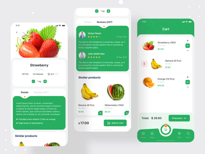 Gronik - Grocery Shop Mobile App cart marketplace grocery store mobile design shop app ecommerce app ecommerce shopping cart shopping app shopping mobile ui mobile app design mobile app devignedge ui app uidesign ui design grocery app grocery