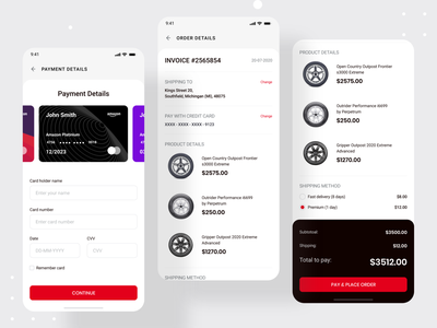 Inventory management - Mobile app   Customer Part warehouse payment app product page product invoice payment ecommerce app ecommerce inventory management software inventory management inventory app design mobile ui mobile mobile app design mobile app app ui uidesign ui design