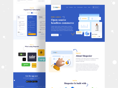 Shopiesier | Open Source Headless Commerce Website b2b website b2b trendy design ecommerce business commerce headless management system management tool ecommerce app store design store online shop ecommerce design ecommerce shop ecommerce mhmanik02 devignedge ui uidesign ui design