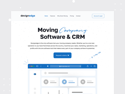 Moving Company Software & CRM software company website landing page software landing page web app application tool sales marketing website smart moving moving company landing page mhmanik02 devignedge software