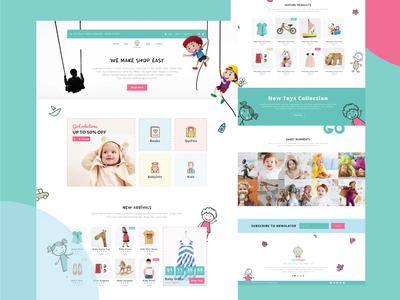 Little Angle - Kids Web Page Design