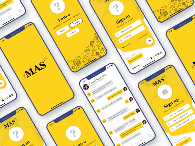 The MAS TM - Tutor App Design ux ui team building ux design ux designer ui designer education app student app teacher tutor app tutor app ui  ux design ui design