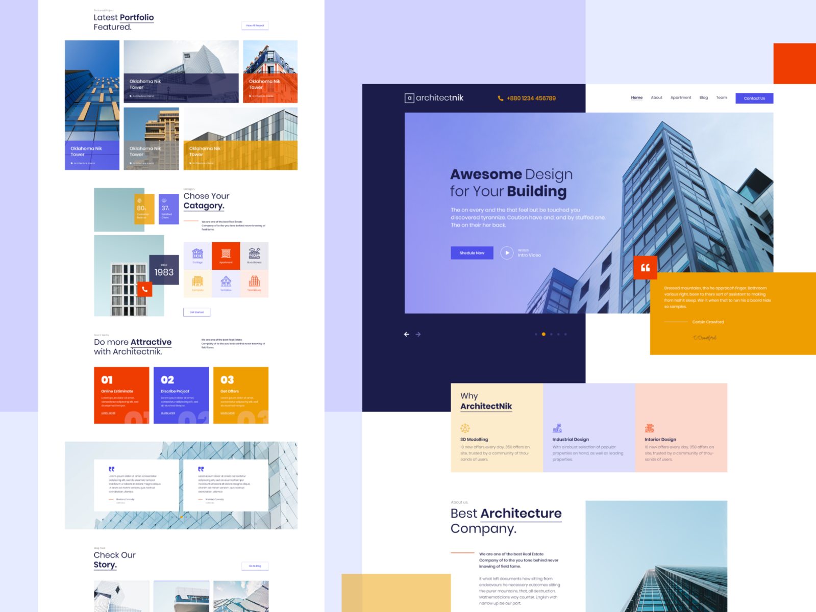 Modern Architecture Interior Design Agency Website By Mahmudul Hasan Manik On Dribbble