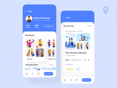 Traveler Profile Page - Travel App Exploration