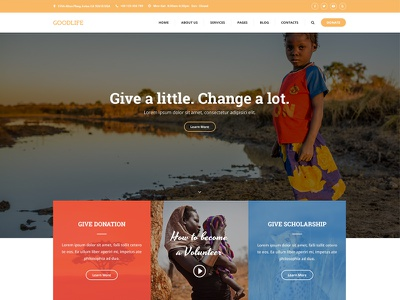 Charity WordPress Theme - CharityWP non-profit ngos charity wordpress theme wordpress