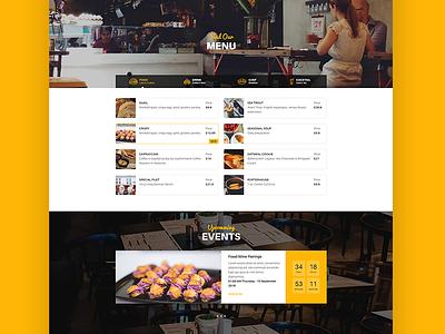 WordPress Restaurant Theme - Resca ux ui web design theme slider wordpress web design creative restaurant