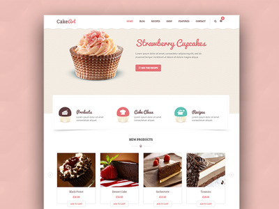 Cake WordPress theme - Cake Art wordpress web ux ui theme slider restaurant design creative