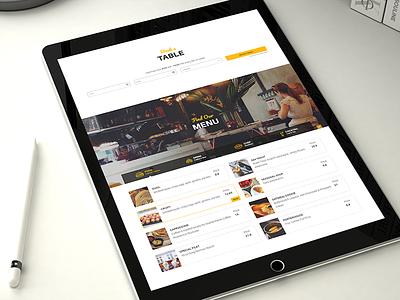 Resca Restaurant Booking Menu Web Design theme wordpress restaurant website web ux uiux ui promo principle fullscreen
