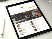Resca Restaurant Booking Menu Web Design