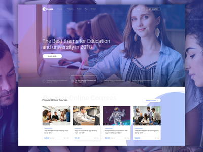 Eduma Education WordPress Theme | Edtech Demo website web wordpress ux ui school college education