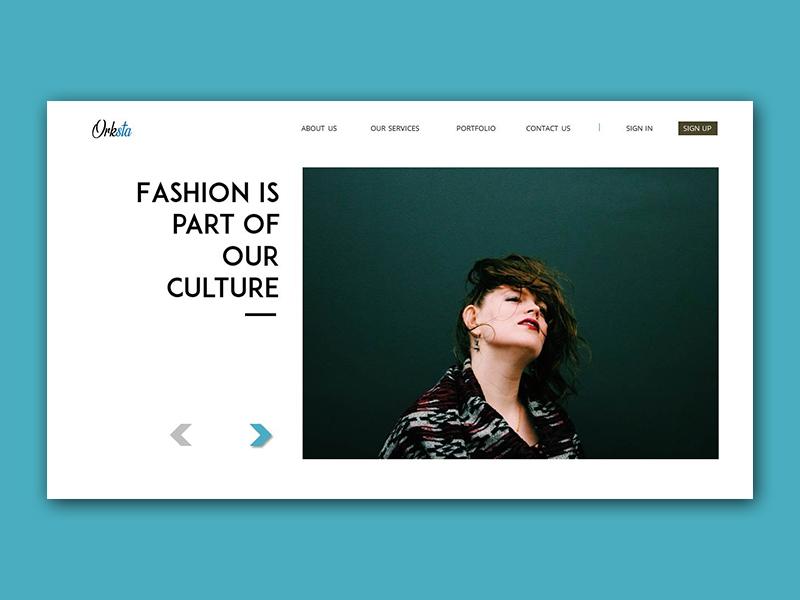 Landing Page - Orksta Fashion design ui  ux design branding webdesign landingpage ux ui