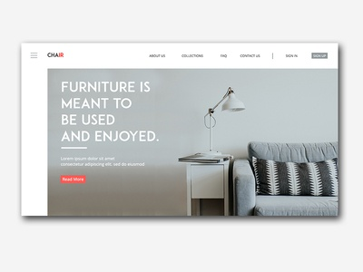 Chair - Furniture Landing Page Design