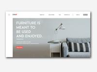 Chair - Furniture Landing Page Design