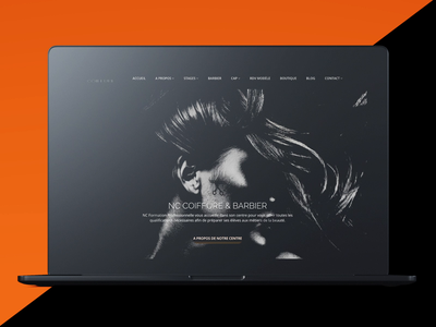 School of Hairdressing Web Design and Development html 5 photography black and white animation clean design modern design black and orange orange hair stylist hairdressing school hair style hairdressing hairdresser hair salon hair care hair cut hair beauty