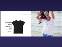 T-Shirts E-store Homepage Design