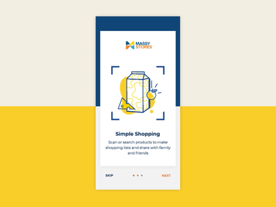 Animated Onboarding for Grocery Store App