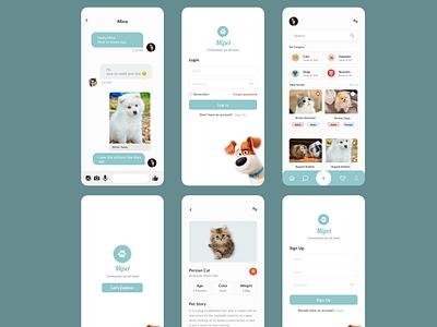 Mipet App web graphic design website design ux ui