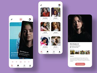 Dating App vector web design ux ui