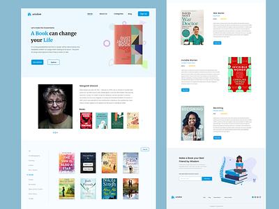 E-book landing page deign simple e-book clean creative website landing page