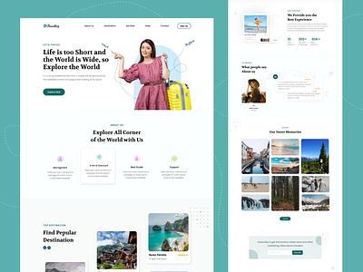 Travelerz - Travel Agency Landing Page branding uiux design design website clean creative website design travel agency landing page landing page