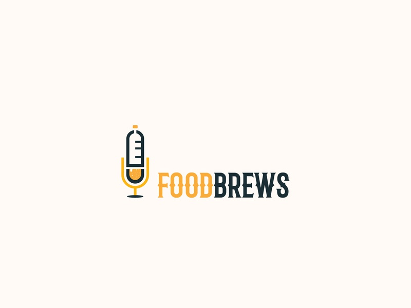 FOODBREWS illustration typography icon graphic design flat vector minimal illustrator logo design